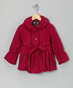 Take a look at this Fuchsia Bubble Coat - Girls by Yoki on #zulily today!