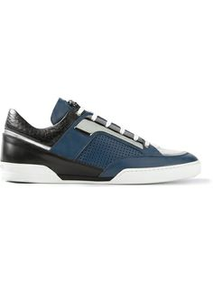 Versace Perforated Trainer from Farfetch Mens Fashion Shoes, Men S Shoes, Sneakers Fashion, Casual Loafers, Casual Shoes, Shoe Sketches, Versace Shoes, Shoes World, Athleisure Fashion