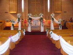Easy And Simple Wedding Decor Pews Church Tent