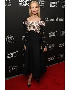 Kate Bosworth en robe Christian Dior à la soirée anniversaire de Mont Blanc à New York