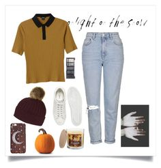 """""""autumnal"""" by emilyxcourtney ❤ liked on Polyvore featuring Monki, Topshop, Fred Perry, H&M and SONOMA Goods for Life"""