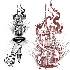 Burning church spiral hand torch matey.  #burningchurch