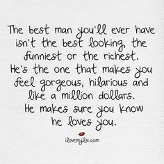 The best man. ..