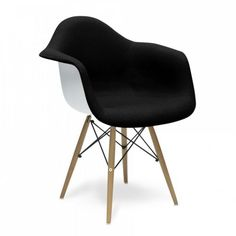 Eames Inspired Upholstered Black DAW Style Chair