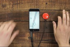 Mogees Play turns your kitchen table into a rhythm game controller