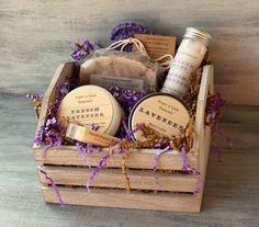 Lavender Soap Spa Bath & Body Gift Basket by SugarNSpiceNaturals