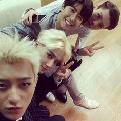 tao suho & sehun with ze:a's kwanghee