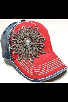 Baseball cap with bling! $35.00 Gabby Rose Boutique!! Find us on Facebook.