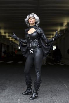 Kristel Jackman, dressed as the character Storm, poses on day two of New York…