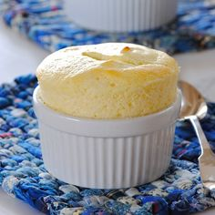 Vanilla Greek Yogurt Souffle - These have a light, cheesecakey flavor...oh! and one serving is only 80 calories and has 7g of protein♥. SCORE!