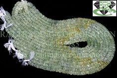 Prehnite Smooth Square (Quality A) Shape: Square Smooth Length: 36 cm Weight Approx: 21 to 23 Grms. Size Approx: 5 to 5.5 mm Price $16.76 Each Strand