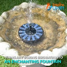 vintage - Solar Garden Fountain 😍 The Solar Garden Fountain can be used anywhere and it runs on solar power, which means there's no maintenance, ugly wires or time consuming set up This makes it the perfect decorative accessory for any backyard, garden Garden Fountains, Fountain Garden, Fountain House, Outdoor Fountains, Garden Ponds, Koi Ponds, Water Fountains, Garden Steps, Diy Garden Decor