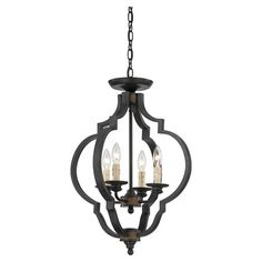 Add a sophisticated touch to your entryway or master suite with this elegant convertible pendant, showcasing a quatrefoil silhouette and bronze finish.
