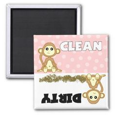Cute Monkey Clean / Dirty Pink Dishwasher Magnet Yes I can say you are on right site we just collected best shopping store that haveShopping          Cute Monkey Clean / Dirty Pink Dishwasher Magnet Review on the This website by click the button below...