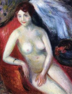 The Athenaeum - Nude on a Red Sofa (William James Glackens - ) Charles Demuth, Robert Henri, Ashcan School, Williams James, Spanish Painters, Red Sofa, Art Database, Oil Painting Reproductions, Henri Matisse