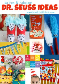 This is a comprehensive roundup of 40 fun and fabulous Dr Seuss ideas. Everything from kid crafts and learning activities to parties and tutorials.