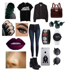 """""""Grunge Hipster"""" by daffbugg on Polyvore featuring Zara, MANGO, Mulberry, Nixon, women's clothing, women's fashion, women, female, woman and misses"""