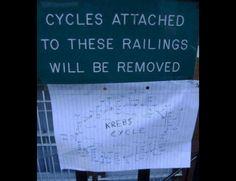 Biology vandalism.   Community Post: 20 More Spectacularly Nerdy Science Jokes