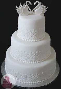 Fondant Wedding Cakes, Floral Wedding Cakes, White Wedding Cakes, Elegant Wedding Cakes, Wedding Cake Designs, Fondant Cakes, Wedding Cake Toppers, Cupcake Cakes, Amazing Wedding Cakes