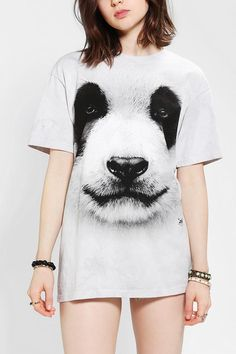 The Mountain Panda Face Oversized Tee