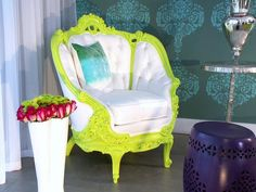 Love the chair!!  Funky and awesome  Contemporary | Living Rooms | David Bromstad : Designer Portfolio : HGTV - Home & Garden Television
