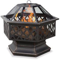 Uniflame Hex Shaped Lattice Fire Pit Home Outdoor Garden Yard Furniture Decors #UniFlame