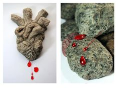 Oreo cookie fudge heart with Blood Sugar from Eat Your Heart Out. Anatomically Correct Edibles and Art For Valentine's Day.