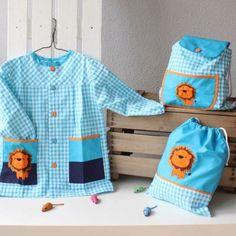 Babi bolsa y mochila guarderia Kids Bags, Summer Baby, Sewing Tutorials, Diaper Bag, Apron, Boutique, Creative, Projects, Crafts