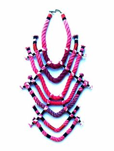 NEON ZINN cotton rope jewelry and wearable art