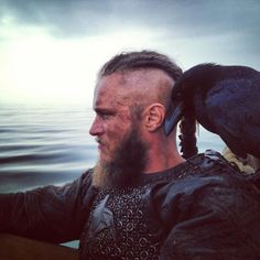 Travis Fimmel as Ragnar Lothbrok on Vikings History Channel TV series