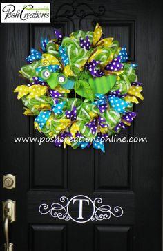 Spring Wreath Spring Deco Mesh Wreath Summer by poshcreationsKY, $65.00