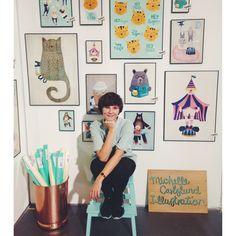 Michelle Carlslund en la tienda - Deco & Living