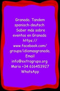 Granada. Tandem spanisch-deutsch heute (Di) um 20.40 in Mexicano Nopal in c/ sol  Saber más sobre eventos en Granada https://www.facebook.com/groups/idiomasgranada Email info@extragrupo.org Mario +34 616453927 WhatsApp