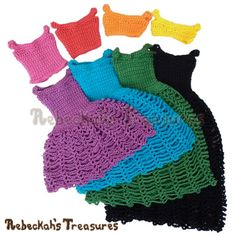 8 in 1 Brassieres to Dresses - Fashion Doll Crochet Pattern - Rebeckah's Treasures