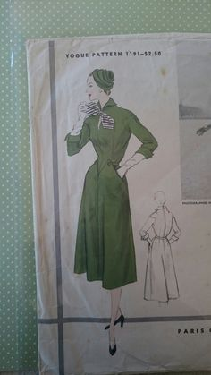 B36 RARE Vogue Paris Original Model 1191 by Jacques Heim, couture sewing by StarletPatterns
