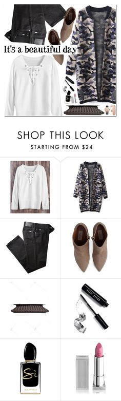 """""""It's a Beautiful Day"""" by oshint ❤ liked on Polyvore featuring BRAX, Valentino, Bobbi Brown Cosmetics, Giorgio Armani, Lipstick Queen and Jessica Carlyle"""