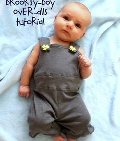 sew easy being green: Boy Clothes-- Brooksy-boy Overalls!