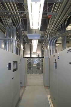 Electrial conduit in a data center.  Photo by Digital Real Trust - builder of data centers