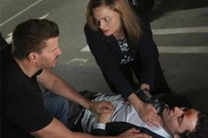 Brennan and Booth care for Sweets in his final scene with them.