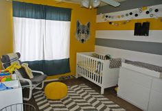 Yellow and Gray Modern Safari Nursery - Project Nursery