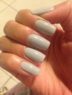 Gray nails! Love this color