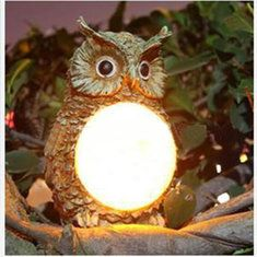 Solar búho potencia LED decoración del jardín de la lámpara de luz al aire libre…