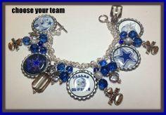LaDeDa4U Bonnie  Custom Made Dallas Cowboys Charm Bracelet Jewelry  NFL NCAA MLB