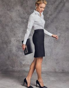 Bring high flying style to the boardroom with our chic workwear essentials.⠀ … Bring high flying style to the boardroom with our chic workwear essentials. Older Women Fashion, Womens Fashion For Work, Work Fashion, Business Dresses, Business Outfits, Business Fashion, Fashion Mode, Fashion Outfits, Secretary Outfits