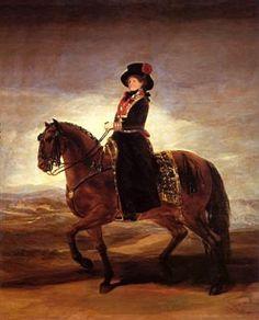 Equestrian portrait of Maria Luisa of Parma - Goya Francisco