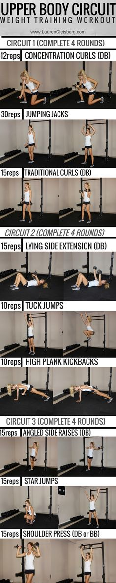 Upper Body Circuit Workout | Click for 1000s of free workouts!