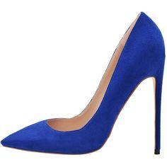 Lovirs Womens Pointed Toe High Heel Slip On Stiletto Pumps Wedding... ($14) ❤ liked on Polyvore featuring shoes, pumps, wide pumps, high heel stilettos, slip-on shoes, high heeled footwear and slip on shoes