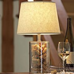 Cool way to display corks, but I don't need anything else breakable in this house!