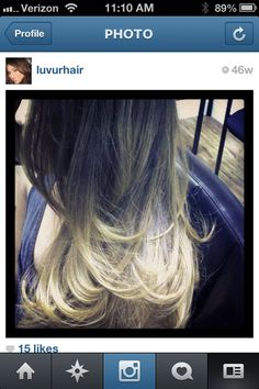 "Light blonde ombré. Follow me on Instagram ""LUVURHAIR"""