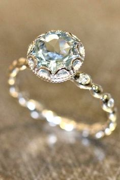I actually really love this ring. Cheaper and more environmentally friendly than a diamond.